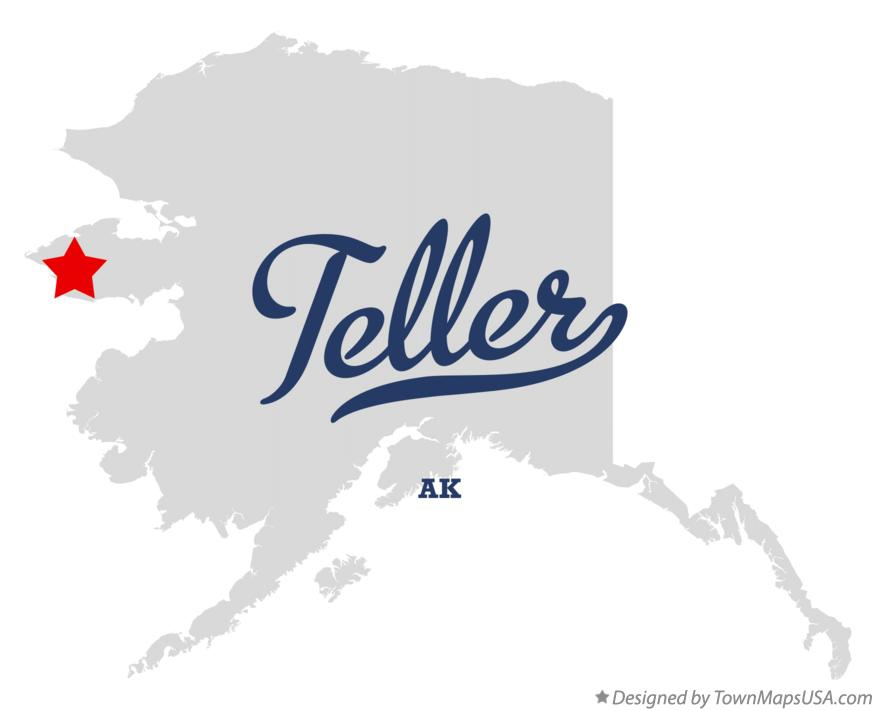 Map of Teller Alaska AK