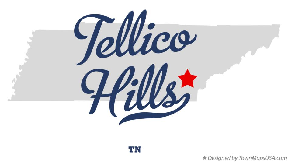 Map of Tellico Hills Tennessee TN