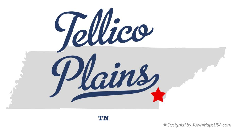 Map of Tellico Plains Tennessee TN