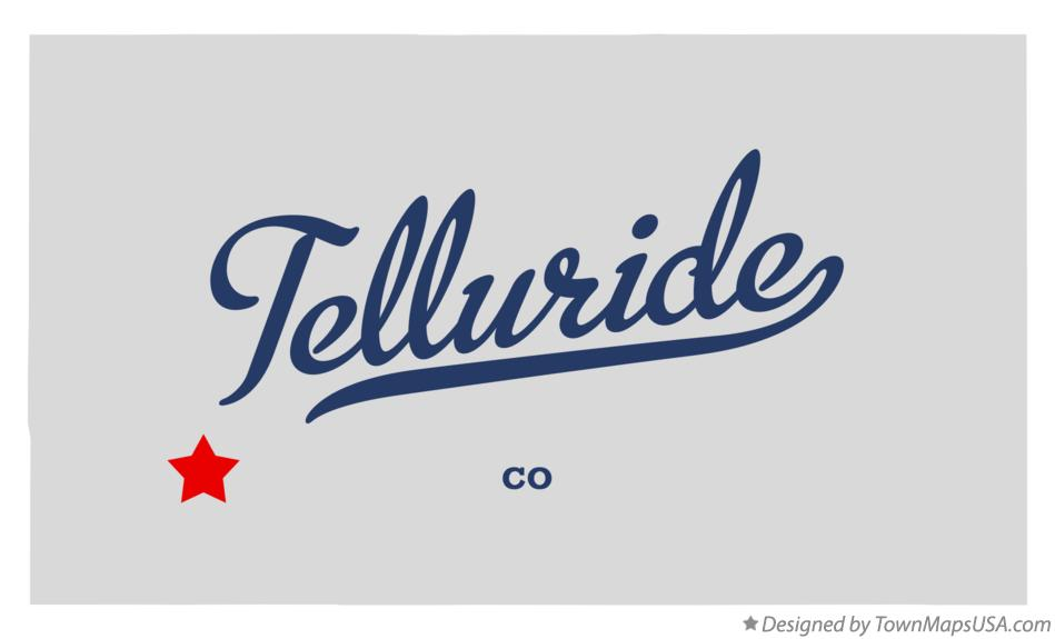 Map of Telluride Colorado CO