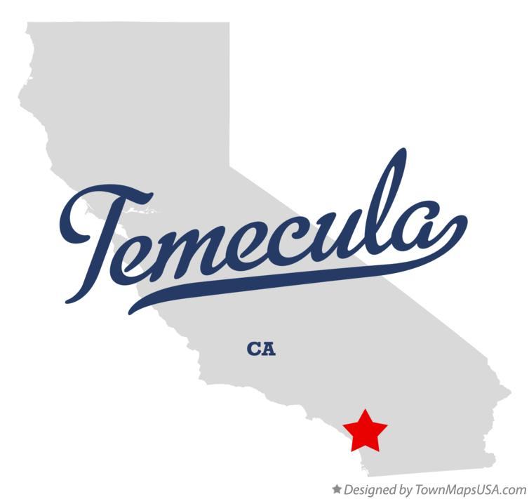 Map of Temecula California CA