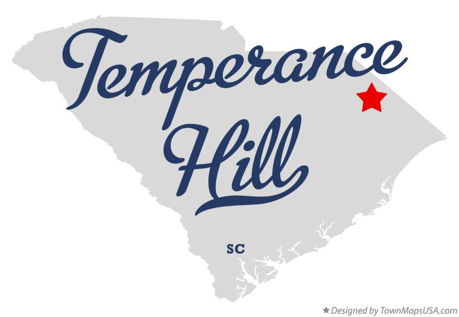 Map of Temperance Hill South Carolina SC