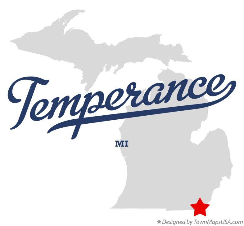 Map of Temperance Michigan MI