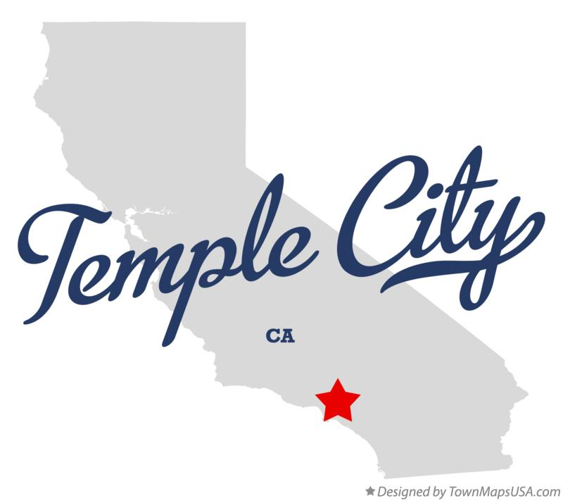 Map of Temple City California CA