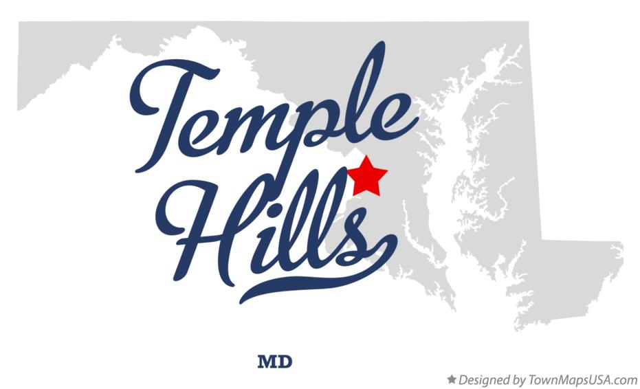 Map of Temple Hills Maryland MD