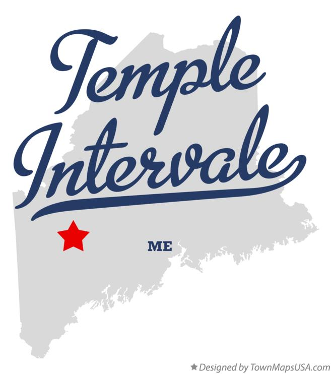 Map of Temple Intervale Maine ME