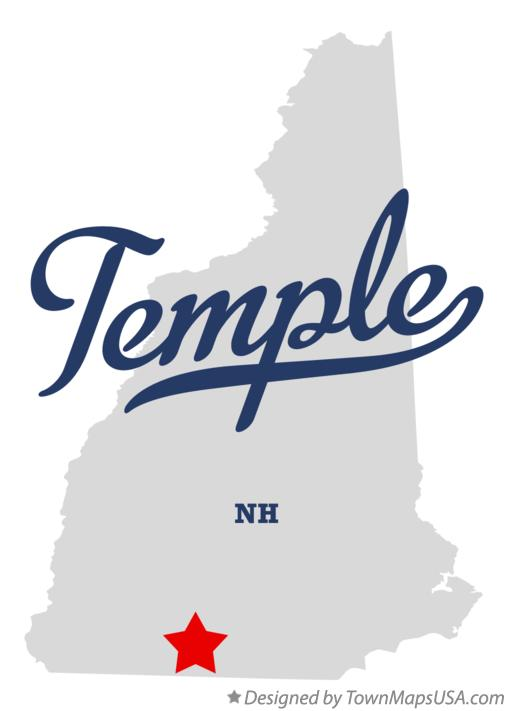 Map of Temple New Hampshire NH