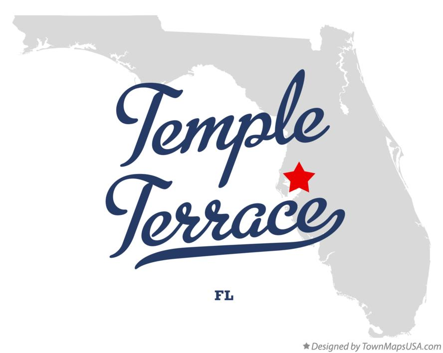 Map of Temple Terrace Florida FL