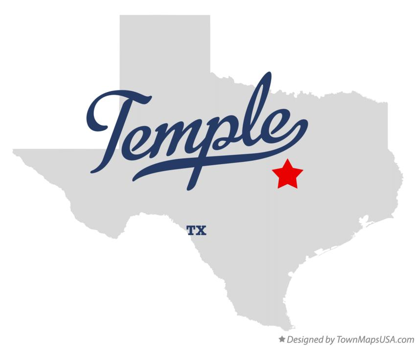 Map of Temple Texas TX