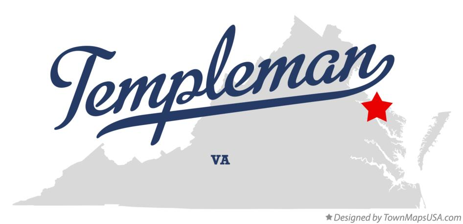 Map of Templeman Virginia VA