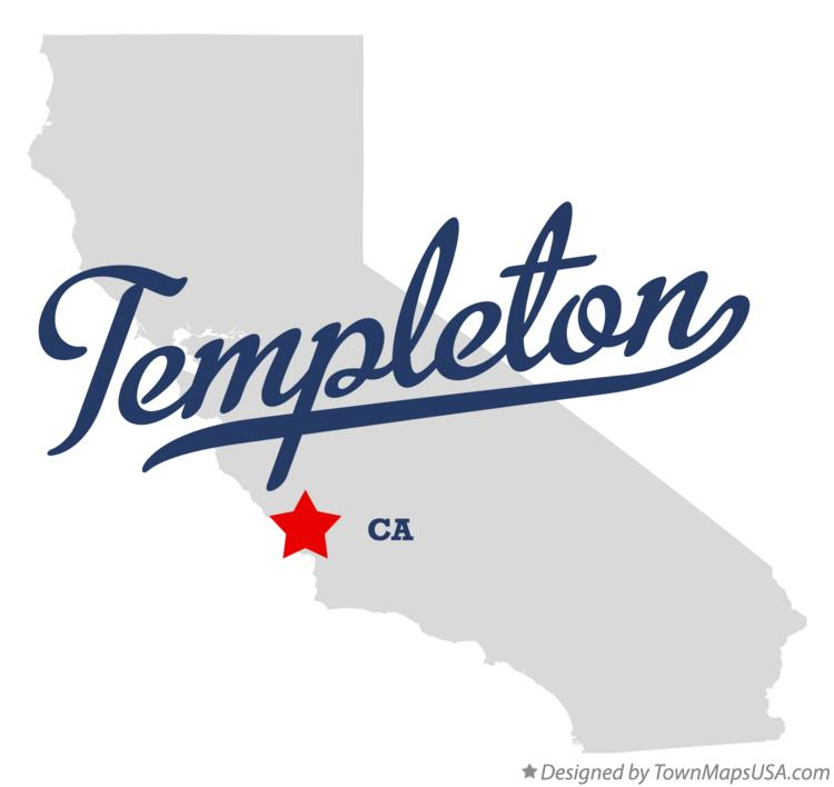 Map of Templeton California CA