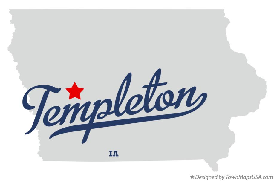 Templeton Iowa Map.Map Of Templeton Ia Iowa