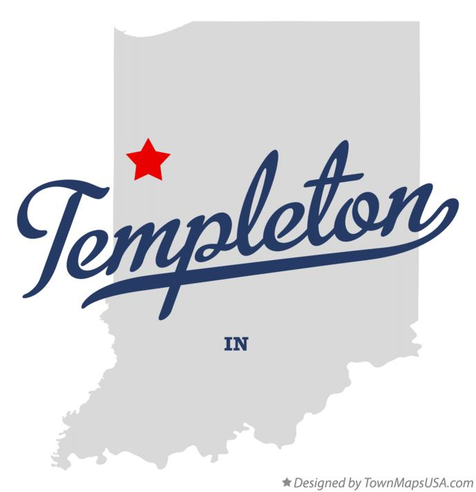 Map of Templeton Indiana IN