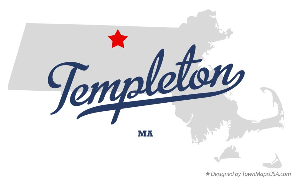Map of Templeton Massachusetts MA