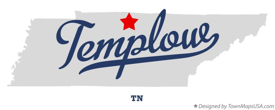 Map of Templow Tennessee TN
