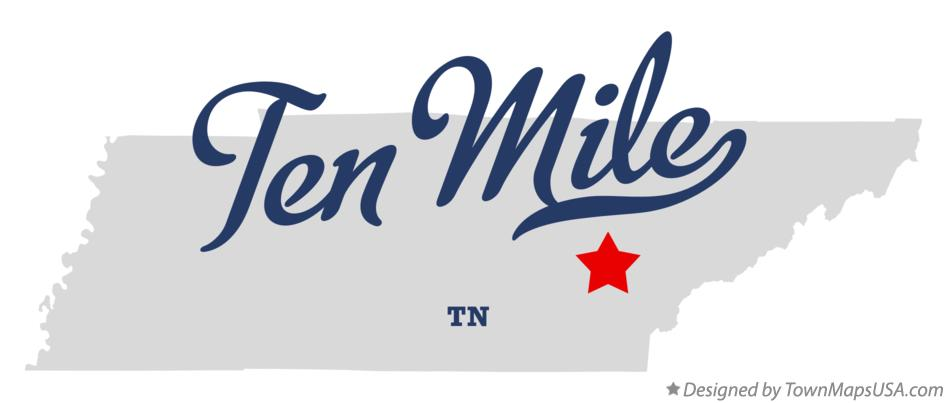Map of Ten Mile Tennessee TN