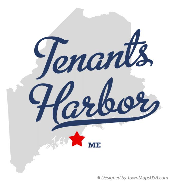 Map of Tenants Harbor Maine ME