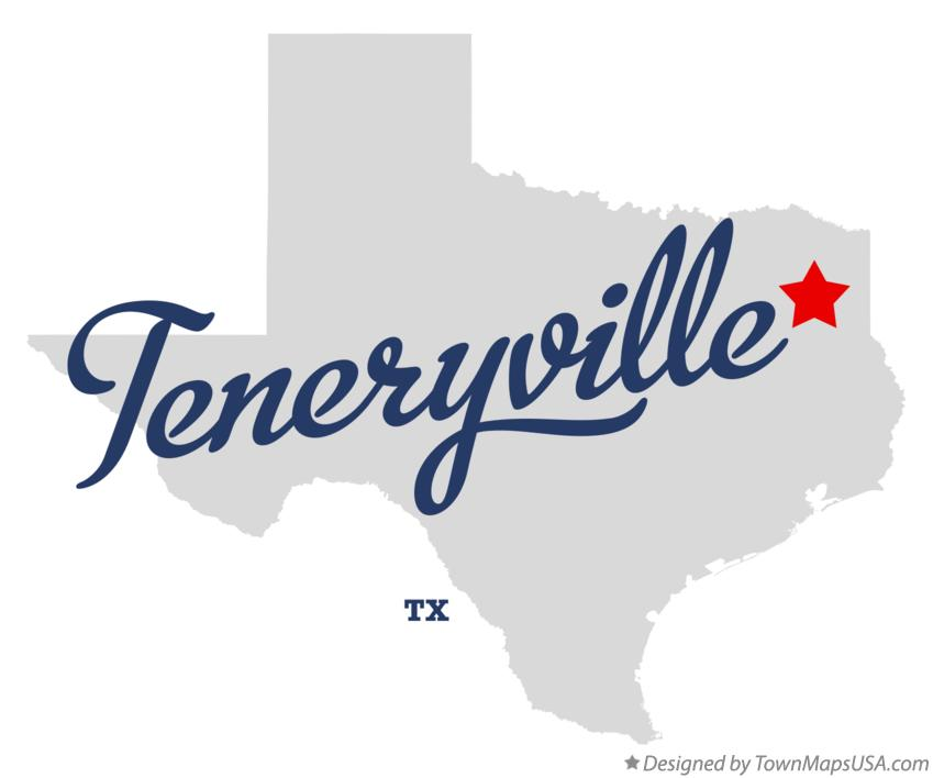 Map of Teneryville Texas TX
