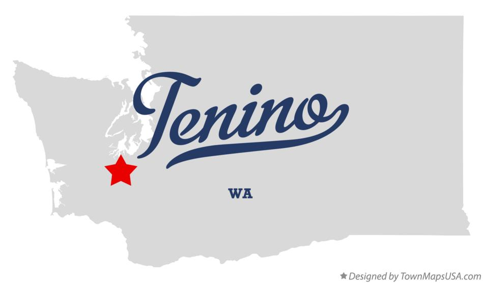 Map of Tenino Washington WA