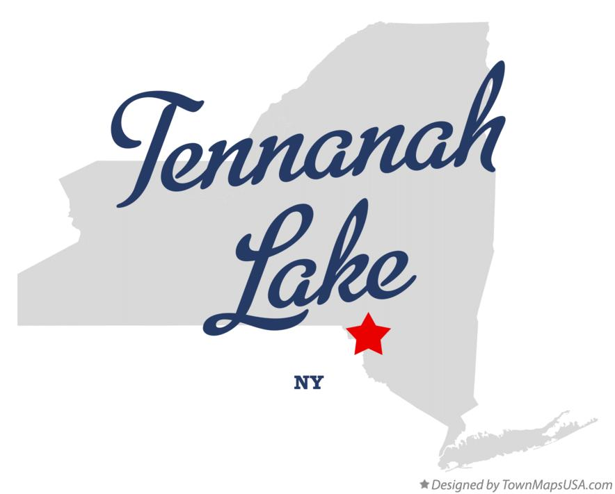 Map of Tennanah Lake New York NY