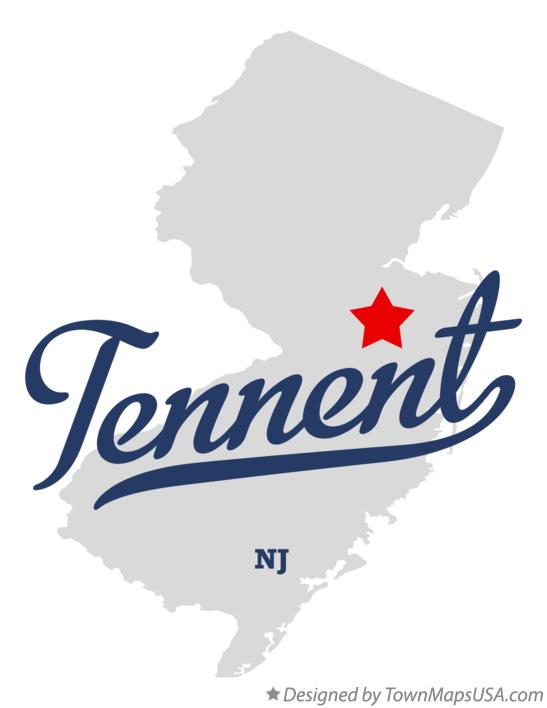 Map of Tennent New Jersey NJ