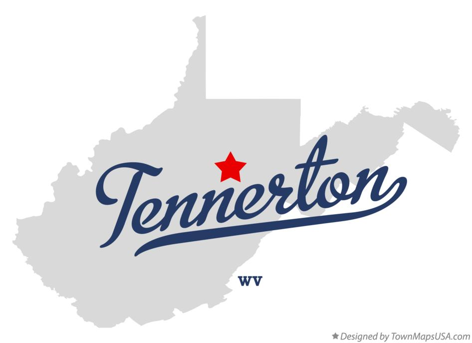 Map of Tennerton West Virginia WV
