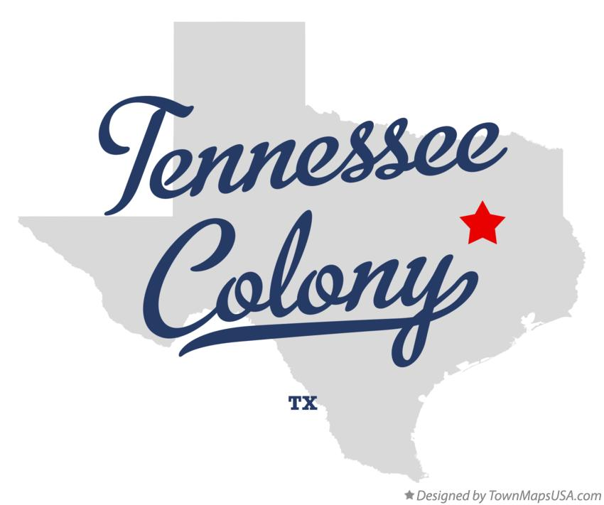 Map of Tennessee Colony Texas TX