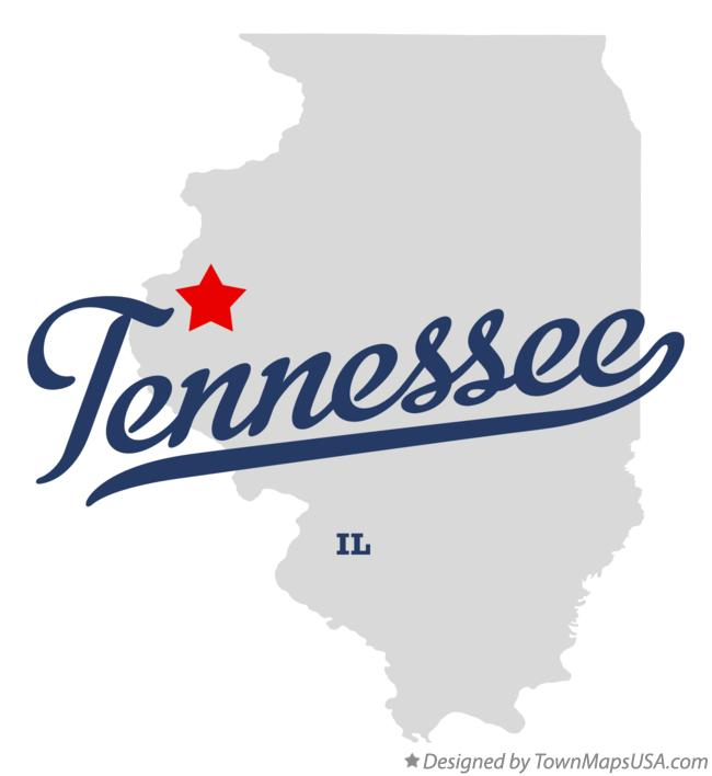 Map of Tennessee Illinois IL
