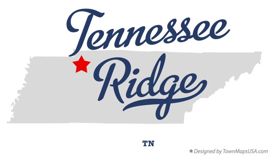 Map of Tennessee Ridge Tennessee TN