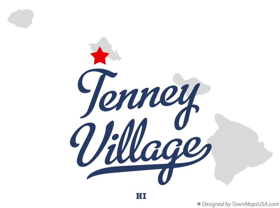Map of Tenney Village Hawaii HI