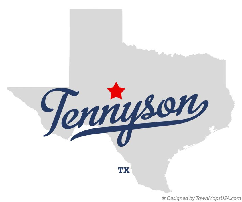 Map of Tennyson Texas TX