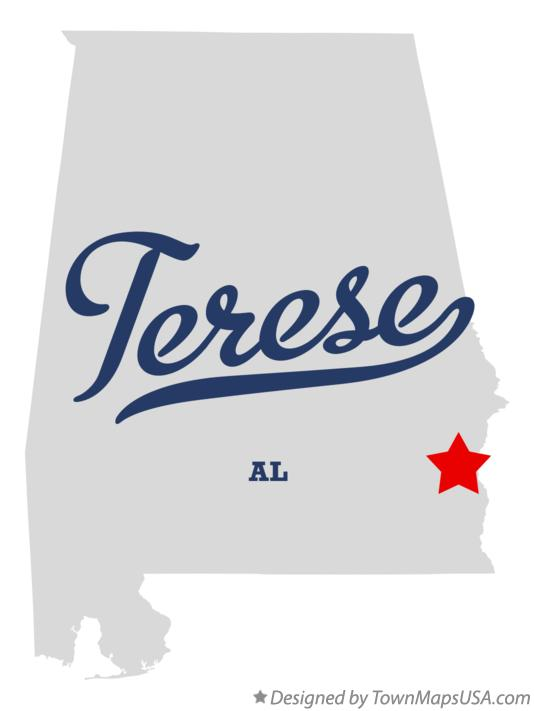 Map of Terese Alabama AL