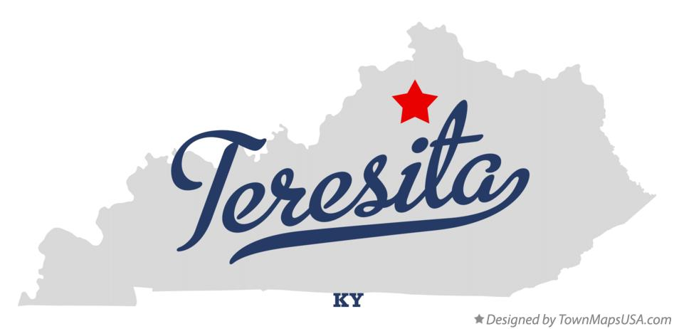 Map of Teresita Kentucky KY