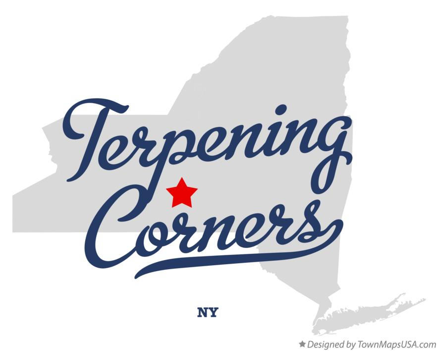 Map of Terpening Corners New York NY