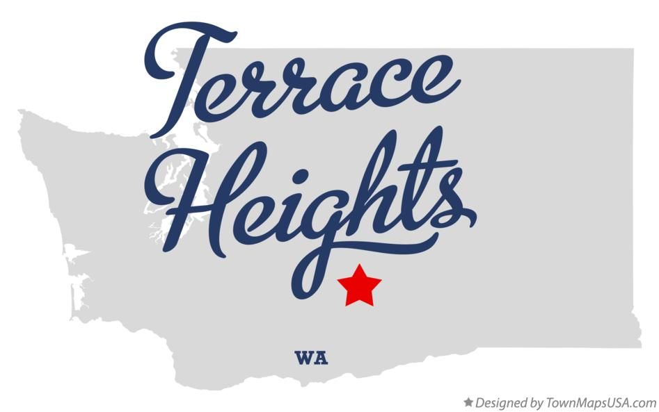 Map of Terrace Heights Washington WA