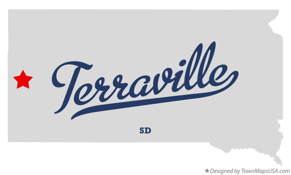 Map of Terraville South Dakota SD