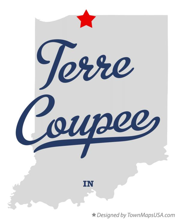 Map of Terre Coupee Indiana IN
