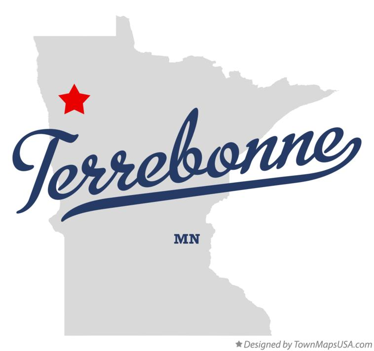 Map of Terrebonne Minnesota MN