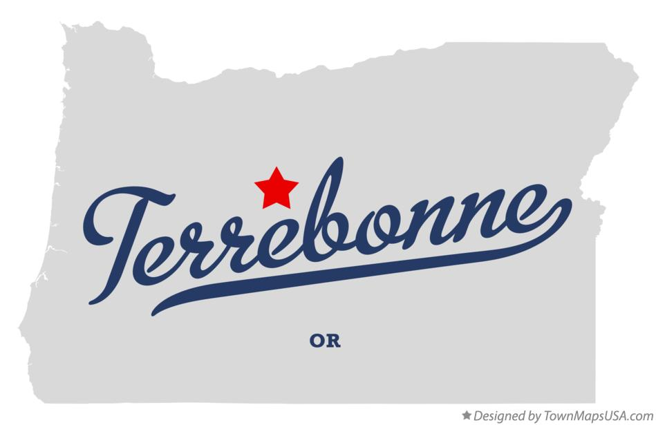 Map of Terrebonne Oregon OR