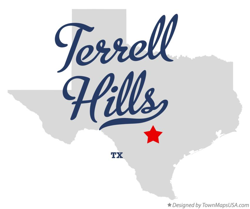 Map of Terrell Hills Texas TX