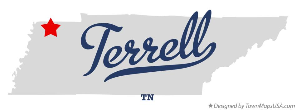 Map of Terrell Tennessee TN