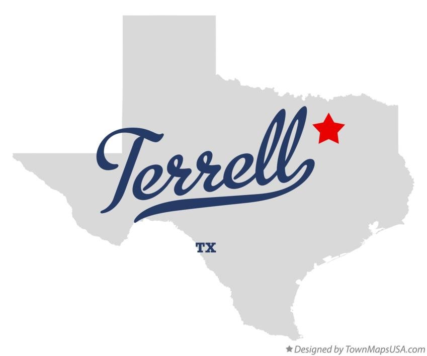 Map of Terrell Texas TX