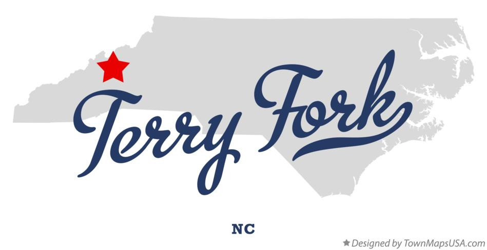 Map of Terry Fork North Carolina NC