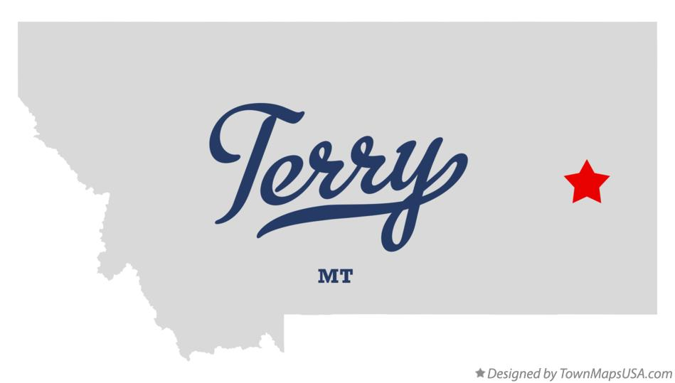 Map of Terry Montana MT