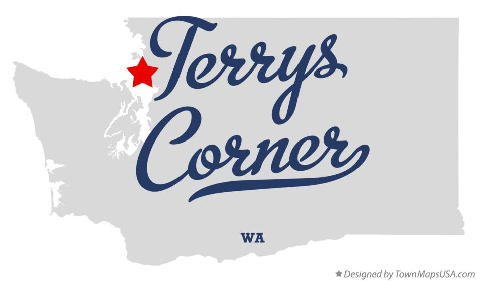 Map of Terrys Corner Washington WA