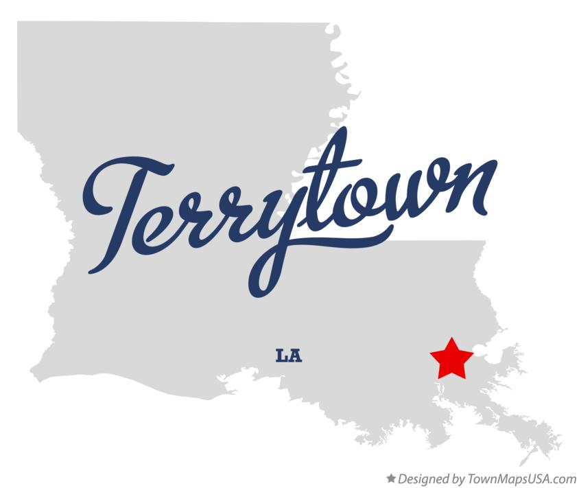 Map of Terrytown Louisiana LA