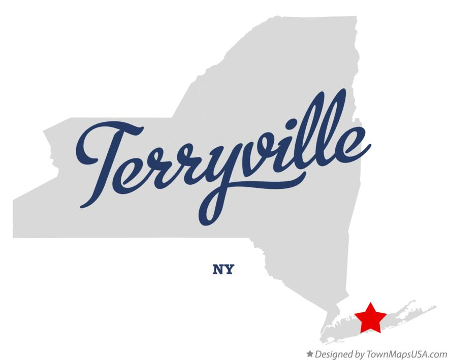 Map of Terryville New York NY