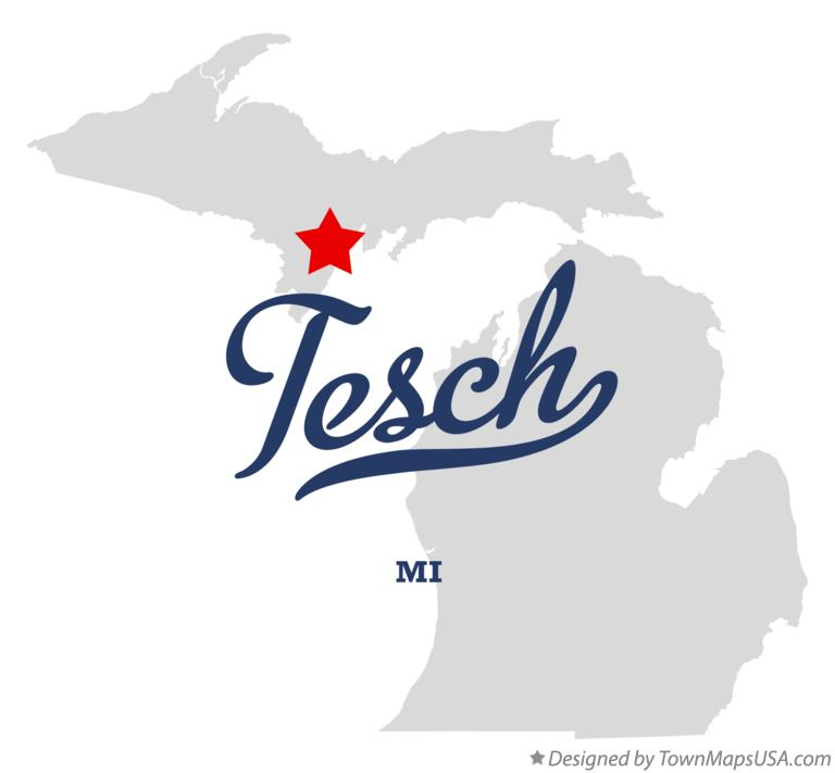 Map of Tesch Michigan MI