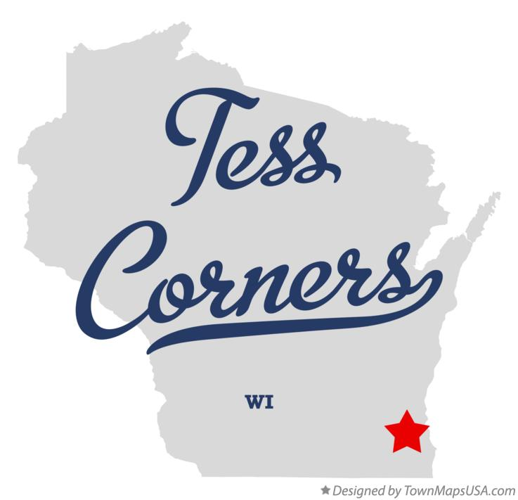 Map of Tess Corners Wisconsin WI