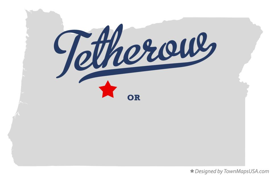 Map of Tetherow Oregon OR